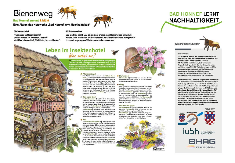 Tafel zum Leben im Insektenhotel