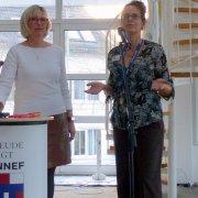 """Susanne Sielaff """"Schlagfertigkeit einmal anders"""" und Gleichstellungsbeauftragte Iris Schwarz"""