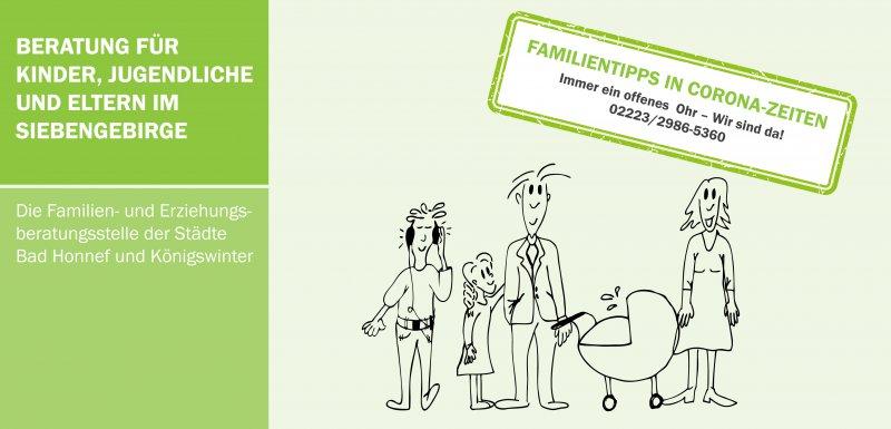 Die Familien- und Erziehungsberatungsstelle der Städte Bad Honnef und Königswinter hat Familientipps in Corona-Zeiten zusammengestellt.