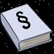 Zeichnung: Gesetzbuch mit §-Symbol