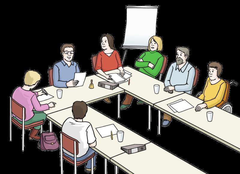 Zeichnung Sitzung