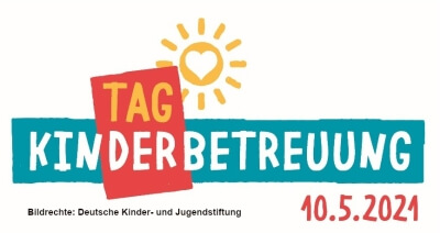 Logo Schriftzug Tag der Kinderbetreuungg - 10.05.2021