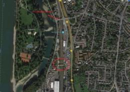 Lageplan des Brückebauwerks - Ansicht der Straßen Lohfelder und August-Lepper-Straße