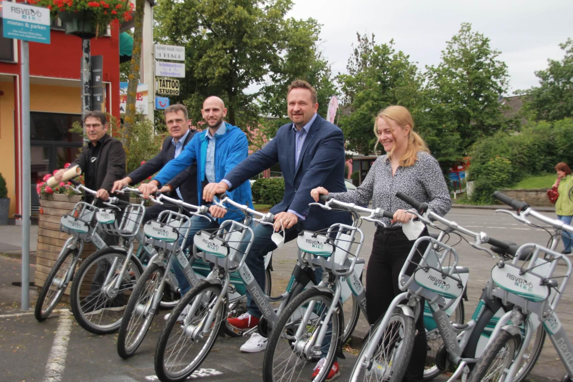 Anbieter des Fahrradmietsystems stellten das Konzept auf dem Aegidiusplatz vor.idiusplatz vorgestellt.