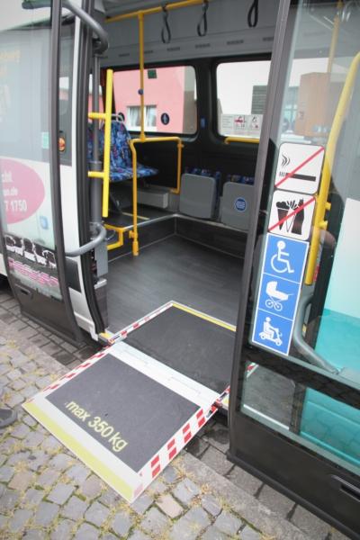 Innenraum des Kleinbusses, der ab August 2021 in Bad Honnef eingesetzt wird.