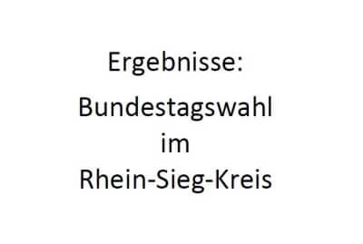 Schriftzug Ergebnisse Bundestagswahl im Rhein-Sieg-Kreis