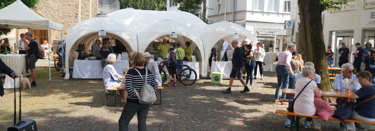 """Zahlreiche Besucher kamen zum """"Tag der Mobilität"""" und probierten neue Techniken und Fortbewegungsmittel aus."""