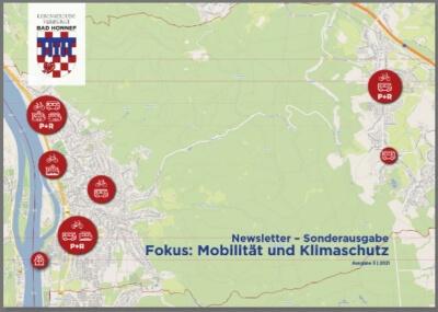 Karte der Stadt Bad Honnef - Titelbild des neuen Sondernewsletters